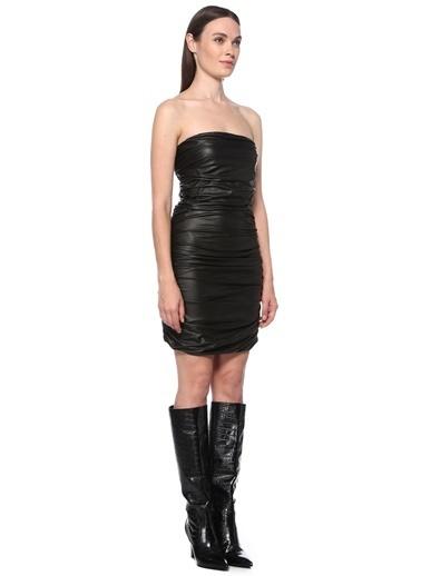 NetWork NetWork 1077219 Straplez Mini Kadın Elbise Siyah